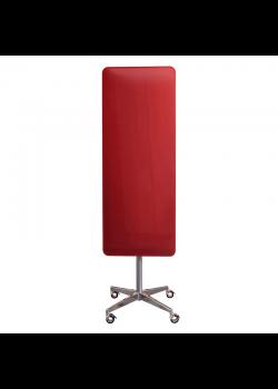 Mobil magnetisk glastavle - Rød