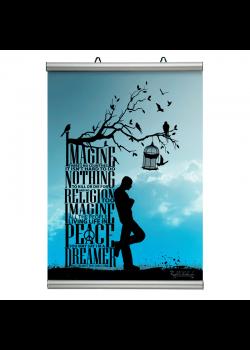 21 cm. plakatophæng/plakatliste Poster-Line-20