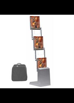 Quick brochurestander 5 x A4 Sølv-20