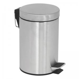 Affaldsspand - Pedalspand med pedallåg i rustfrit stål