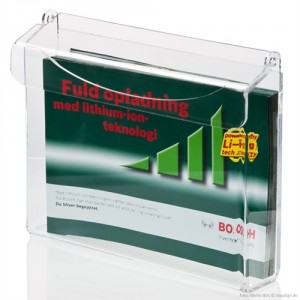 Udendørs brochureholder med låg A4 liggende-20