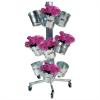 Blomsterstativ med 12 stk. zinkspande-00
