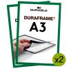 Magnetramme A3 med grøn kant - Duraframe