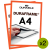 Magnetramme Duraframe A4 Orange