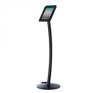 iPad stander til gulv model Kiosk - Sort