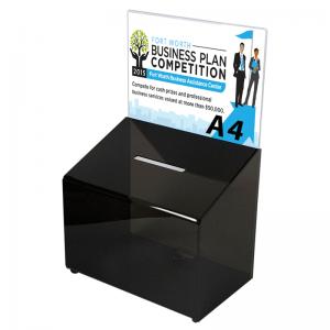 Forslagskasse - konkurrence boks - Sort A4