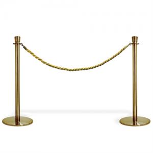 Kø kontrol - VIP afspærring i guld farve / reb