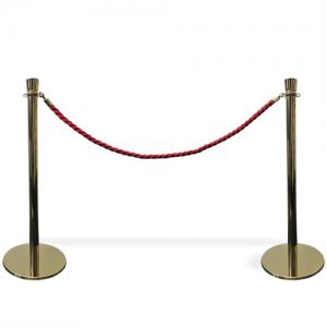 Kø kontrol - VIP afspærring i guld farve / rødt reb.