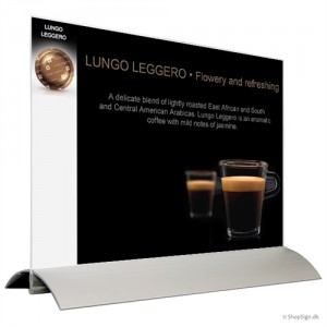 Alu-Stand menukortholder i bredformat