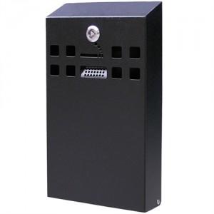 Square - Udendørs askebæger i sortlakeret stål, XL