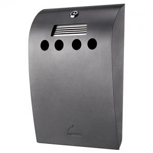 Convex - Udendørs askebæger i grålakeret stål