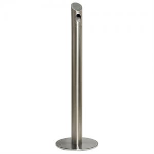 Pole - Udendørs askebæger i børstet stål