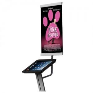 Bannerholder til iPad stander og væg holder