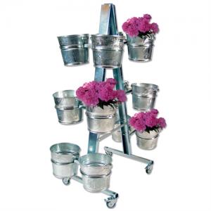 Blomsterstativ med 12 stk. zinkspande