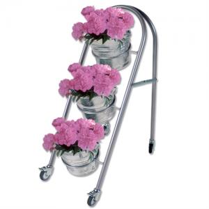 Blomsterstativ med 3 stk. zinkspande