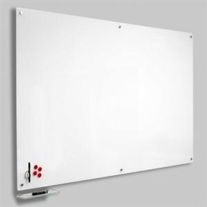 Magnetisk Glastavle - Hvid 120x150 cm.