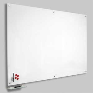 Magnetisk Glastavle - Hvid 90x120 cm.