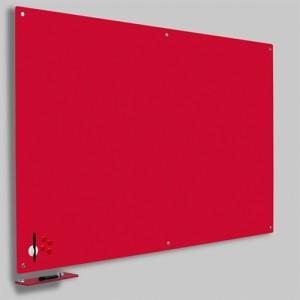 Magnetisk Glastavle - Rød 90x120 cm.