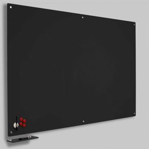 Magnetisk Glastavle - Sort 120x200 cm.