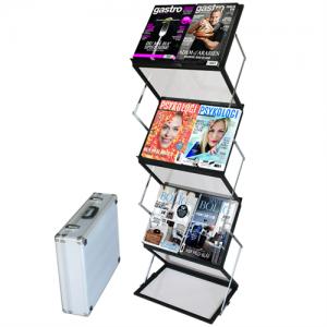 Flex brochureholder 12 x A4 - Sort