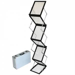 Flex brochureholder 6 x A4 - Sort