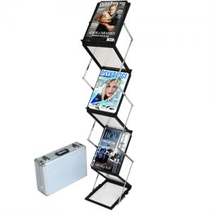 Flex brochureholder 6 x A5 - Sort