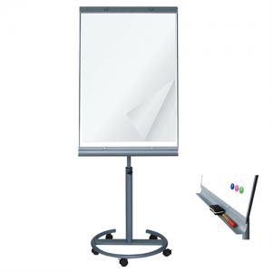 Flipover tavle med hjul - Whiteboard/Papir