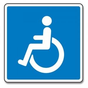 Handicap P-Skilt