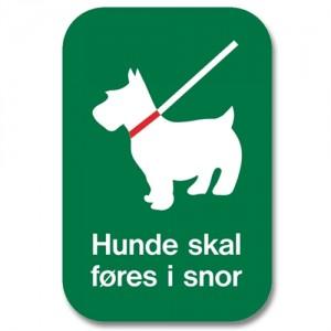Skilt - Hunde skal føres i snor