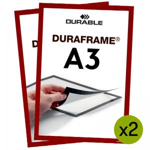 Duraframe® magnetramme - A3 Rød