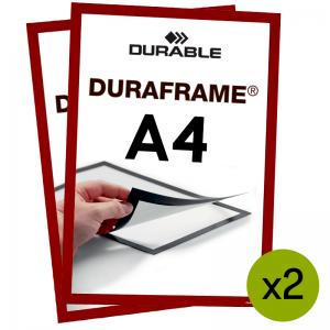 Duraframe® magnetramme - A4 Rød