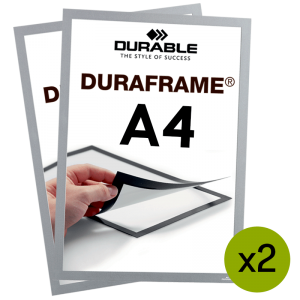 Duraframe® magnetramme - A4 Sølv