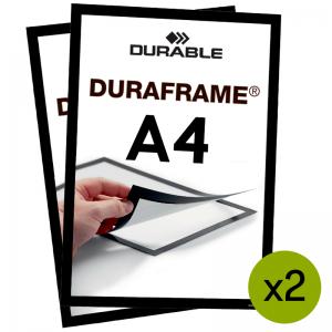 Duraframe® magnetramme - A4 Sort