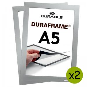Duraframe® magnetramme - A5 Sølv