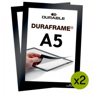 Duraframe® magnetramme - A5 Sort