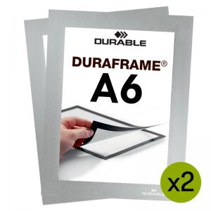 Duraframe® magnetramme - A6 Sølv