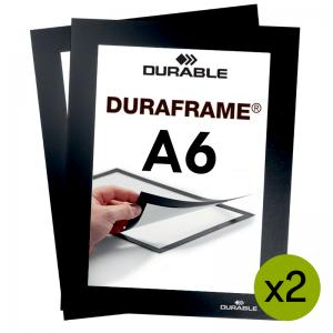 Duraframe® magnetramme - A6 Sort
