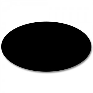 Oval skilteplade til galgeskilt