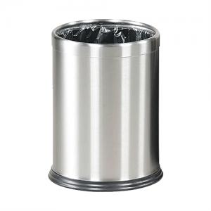 Papirkurv - Lux i børstet stål
