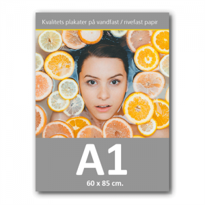 Plakat med print / tryk i A1 - 60x85 cm.