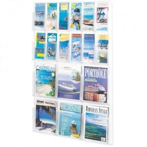 Safco brochureholder 6xA4 - 12xM65