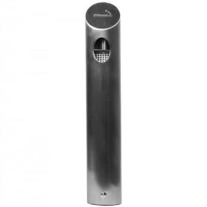 Tube XL - Udendørs askebæger i børstet stål