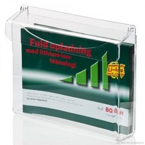 Udendørs brochureholder med låg - A4 liggende