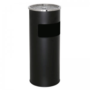 Udendørs askebæger - Floor tube rustfri i sort